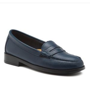 G.H.BASS WEEJUNS KATHLEEN NAVY PENNY-LOAFERS
